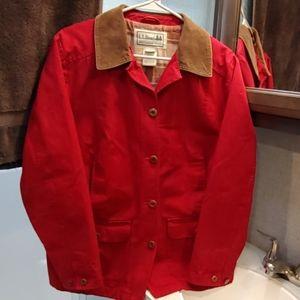 LL Bean Adirondack Barn Coat Red Size M